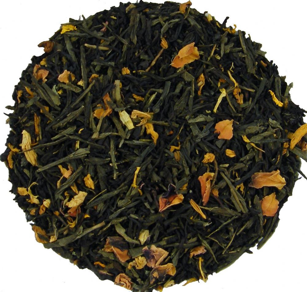 Heavenly Peach Green & Black Loose Leaf Tea in Assorted Packs